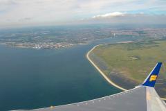 Ombord hos Islandair på vej fra København, via Reykjavik til Seattle for en enkelt overnatning inden den videre tur.