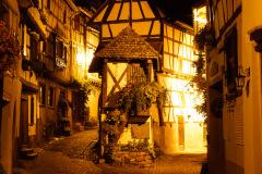 Eguisheim by night, Alsace, Frankrig