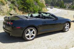 Vores lejebil, en Chevrolet Camaro SS 6.2 liter V8 med 400 hk. Rimelig sjov bil, men ret forslugen.