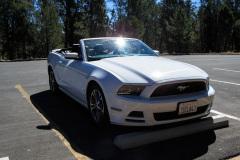 Vores lejebil på turen, en Ford Mustang Convertible V6