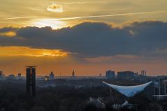 Udsigt fra taget af Reichstag, Berlin, Tyskland