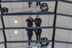 Besøg i Reichstag, Berlin, Tyskland