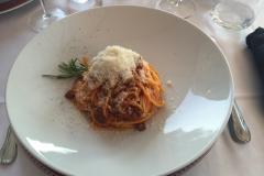 Middag på Il Torchio, Dogliani, Piemonte, Italien