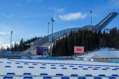 Skihopbakken på Holmenkollen, Oslo, Norge