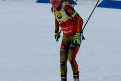 En tysk legende Laura Dahlmeier på Holmenkollen, Oslo, Norge