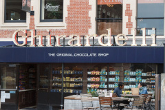 Chokoladebutikken på Ghiradelli Square, San Francisco, USA