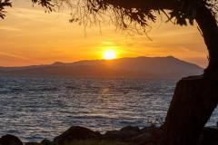 Solnedgangen over San Francisco bugten