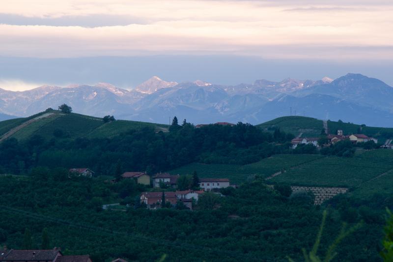 Udsigt til de vestlige Alper fra Luigi Einaudi
