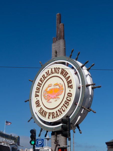 Skiltet ved Fishermans Wharf i San Francisco
