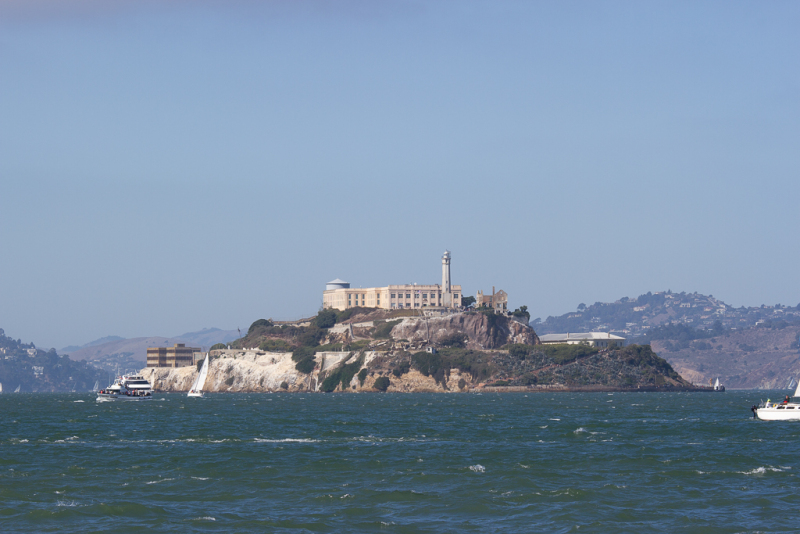Alcatraz set fra Pier 39, San Francisco, USA