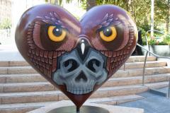 Udsmykket hjerte ved Union Square, San Francisco, USA