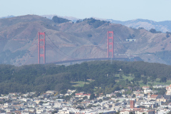 Golden Gate set fra Twin Peaks, San Francisco, USA