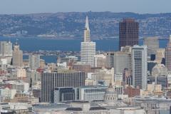 Udsigt fra Twin Peaks, San Francisco, USA