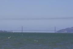 Udsigt til Golden Gate fra César E. Chávez Park ved Berkeley Marina, Berkeley, USA