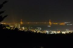 Udsigt til Golden Gate fra Telegraph Hill, San Francisco, USA