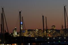 San Francisco set fra Berkeley Marina, Berkeley, USA