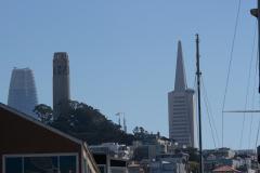 Transamerica Pyramid set fra Pier 39, San Francisco, USA