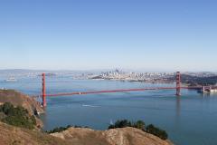 Udsigt fra Marin Headlands til Golden Gate, San Francisco, USA