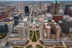 Udsigt fra Gateway Arch, St. Louis, Missouri, USA