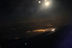 Reykjavik by Night set fra SAS flyet på vej til Stockholm fra Chicago