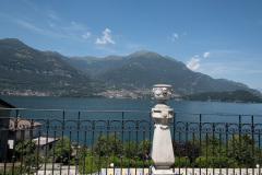 Udsigt fra terassen ho Hotel Helvetia, Lezzeno, Como, Italien