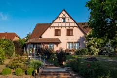 Middag på Le Maximillien, Zellenberg, Alsace, Frankrig