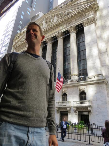 Karsten ved Wall Street børsen
