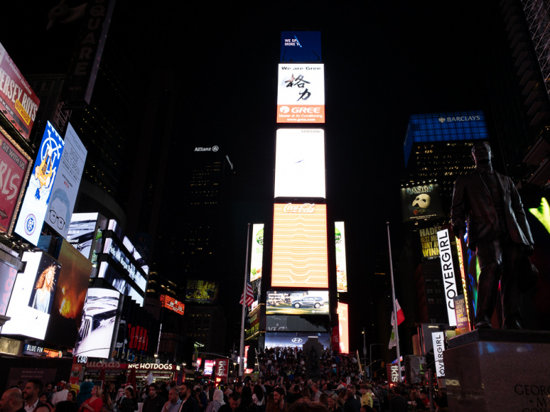 Times Square by night, New York, USA