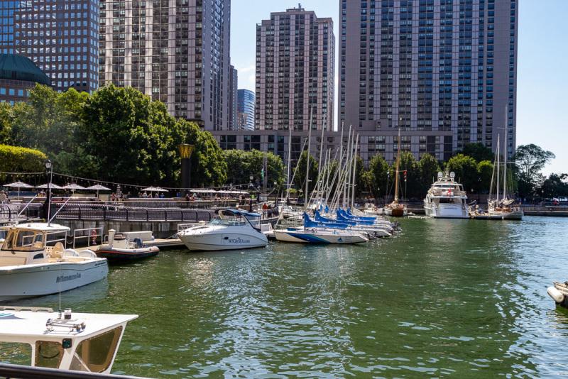 North Cove Yacht Harbor, New York, USA