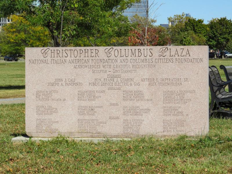 Christoffer Columbus Plaza, Liberty State Park, New Jersey, USA