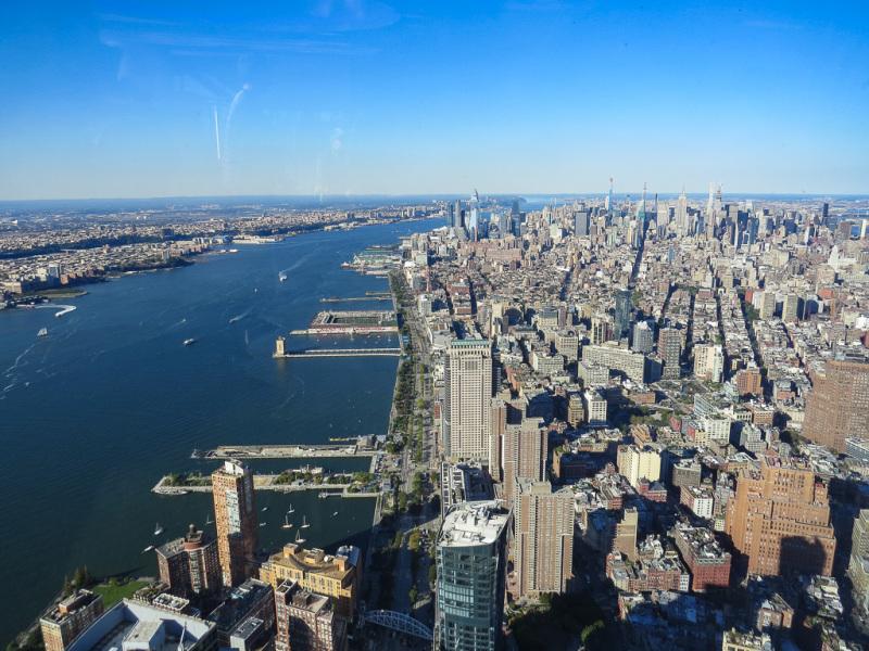 Udsigt fra One World Trade Center, New York, USA