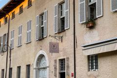 Middag på Da Francesco i Cherasco, Piemonte, Italien. Wauw, de smukkeste lokaler vi har spist i til dato, med vægmalerier fra helt tilbage til 1772. Og maden var også fantastisk.
