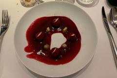 Frokost på vores stamrestaurant L'Atalier du Peintre i Colmar, Alsace, Frankrig