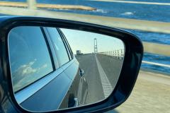 På vej hjem over Storebæltsbroen